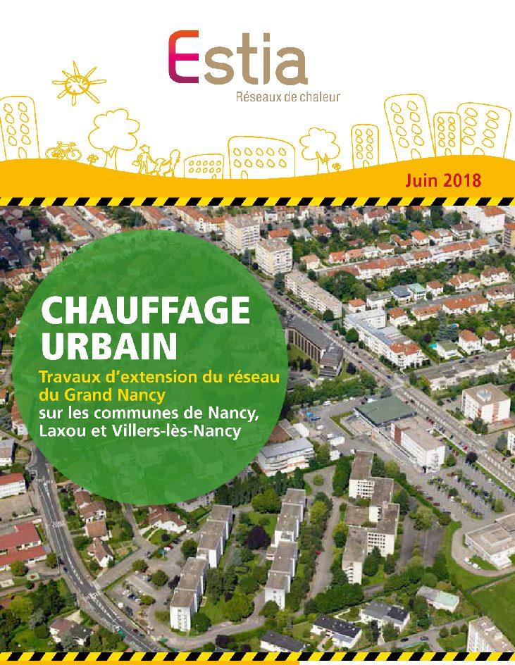 Travaux d'extension du réseau de chauffage urbain du Grand Nancy