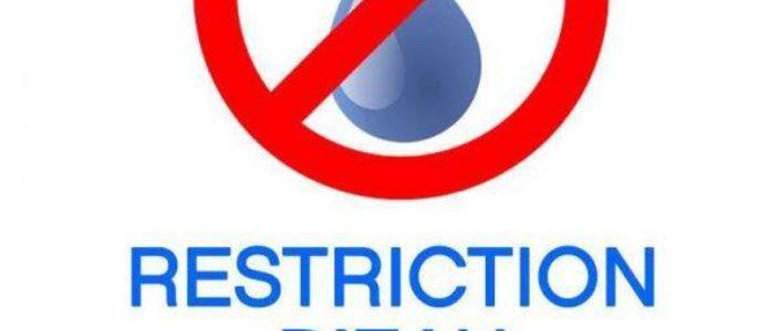 Restriction de l'eau : passage en alerte – arrêté de limitation de certains usages