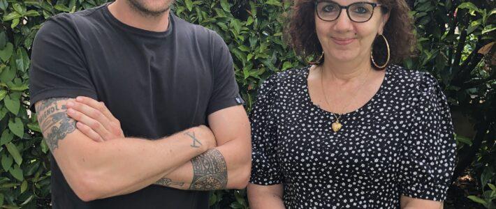 Nora et Béranger, le binôme souriant du service Education/ Jeunesse